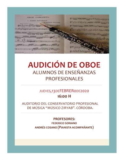 AUDICIÓN DE OBOE