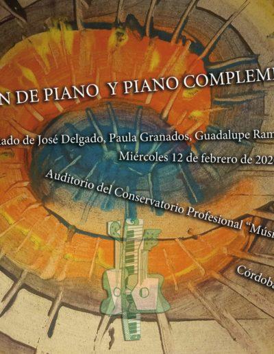 AUDICIÓN DE PIANO Y PIANO COMPLEMENTARIO