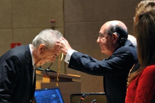 Nombramiento de Manuel Pérez Rodríguez como académico de la Real Academia de San Fernando